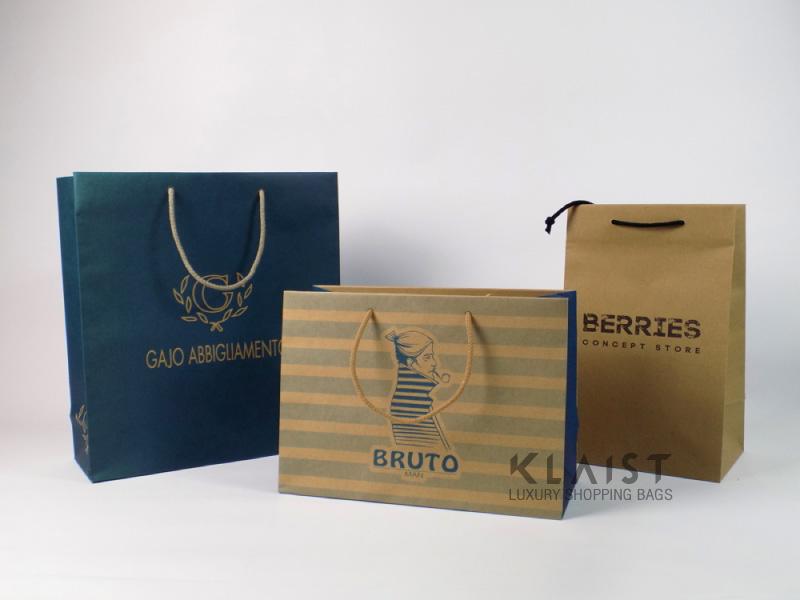 sacchetti personalizzati in carta avana riciclata