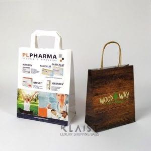 sacchetti personalizzati con maniglie di carta