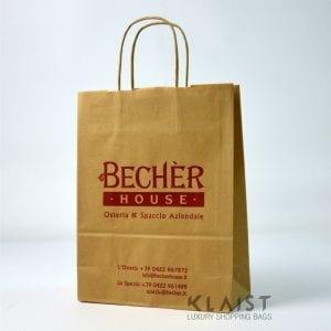 sacchetti economici con maniglia in carta stampa un colore