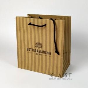 shopper manuali in carta kraft avana maniglie cotone
