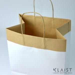 sacchetti maniglie di carta incollate e fondo molto resistente