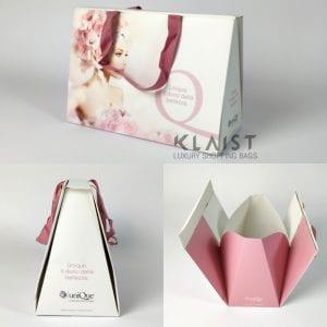 borsa in carta personalizzata con chiusura superiore