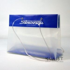 borsa di plastica con inserto in cartone