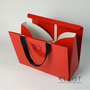 shopper in carta personalizzata con chiusura superiore