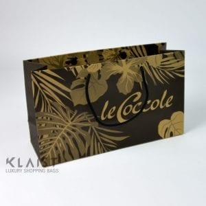 sacchetti di carta eleganti in carta avana ecologica per negozio abbigliamento