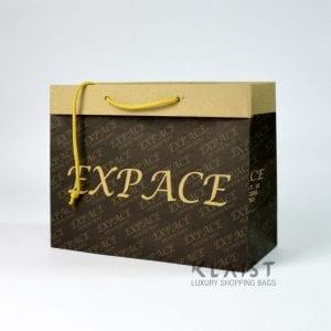 borse personalizzate in carta avana maniglie colorate e fondo in cartone