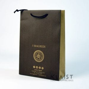 sacchetti di carta manuali ecologici con fondo in cartone