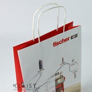 borse maniglie carta e fondo in cartone rinforzato